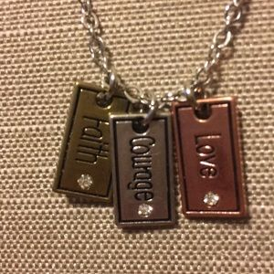 Love Courage Faith necklace